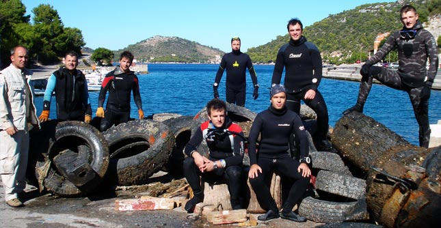 In 2011, the Nature Park Lastovo Islands team has collected more than 25 tons of garbage