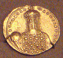Gold solidus of Constantine VII Porphyrogennetos, 913–959.