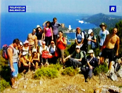 Members of the Croatian Hiking Association at Lastovo