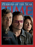 Time 2006 – Bill Gates & Bono (U2) – person of year. Bono visited Lastovo August 2006.