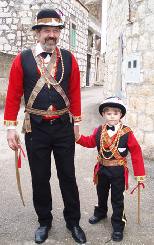 The carnival tradition is passed from father to son - Lukša Lešić and his son Ivan